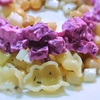 ミント風味のひよこ豆とパスタのサラダとビーツとヨーグルトサラダ
