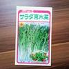 水菜の種まき!プランターでの育成。早めに撒いて何度も収穫したい!