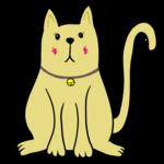 犬のようなかわいい猫 のイラスト
