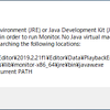 【Android】A Java Runtime Environment (JRE) or Java Development Kit (JDK) must be available in order to run Monitor