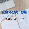 【立会外分売分析】4388 エーアイ