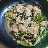 〇*簡単!豚肉と小松菜とえのきの中華炒め*を作ってみた!