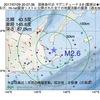2017年07月29日 20時07分 国後島付近でM2.6の地震