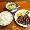 味の牛たん喜助泉中央駅店@泉中央 牛たん炭火焼定食(4枚8切・塩)