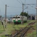鉄道とクレジットカードのある風景