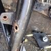 RZ250 フレームの穴あき補修