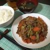 野菜たっぷり!醤油ベースの「肉野菜炒め」