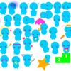 キャラクター30種類作ってみた。あざといやつら(青太編)-こけしができるようになったことその4
