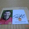 オートグラフ Manchester United Ryan Giggsからの返信