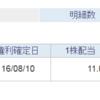 【分配金】1343 NEXT FUNDS 東証REIT指数連動型上場投信の2016年8月度の分配金を頂きました