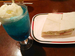 「コンパル」の「ハム野菜サンドとクリームソーダ」