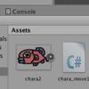 開発日誌-UnityでC#スクリプトで初制御-