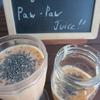 """今日のジュース「""""king of Fruits"""" Paw-Paw Juice!!」"""
