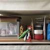物がよく落ちる収納棚周りを断捨離。ブックエンドの意外な使い方も。