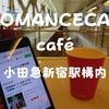 小田急線新宿駅構内「ロマンスカーカフェ」特急を眺めながら優雅なひととき