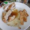 幸運な病のレシピ( 1182 )夜:鶏ムネの照り焼き、豚ソテー(味噌漬け市販半額)、汁