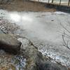 極寒の焚き火遊び