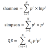 Comparison of diversity index (Quadratic entropy, Shannon entropy & Simpson index)