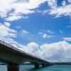 沖縄で古宇利島目指して走ってきた