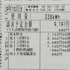 10月の電気料金(9月の使用料)