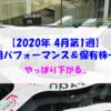 【株式】週間運用パフォーマンス&保有株一覧(2020.4.3時点)  やっぱり下がる...
