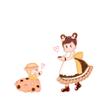 お姫様スクラップ用イラスト ドーナツ姫 とハンドメイド日記