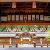 京都・北野 - 平野神社 拝殿の最後の勇姿