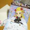 6歳の手作り誕生日カードは煉獄さん!