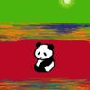 春に向かって  パンダのイラスト