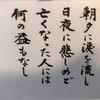 カミさんの戒名・・お寺から貰った日めくりカレンダーの言葉・・