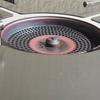 KVASS 遮熱テーブル 天板折り畳み式 ステンレス製!② 実機で紹介! ST-330使用時、ボンベがテーブル下に入る★★