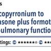 ACPJC:Therapeutics COPD患者でベクロメタゾン/フォルモテロールにグリコピロニウムを追加すると肺機能が改善するか