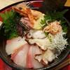 【車海老専科 天ぷら手一束 @新橋】天ぷら屋のランチで新鮮ネタの海鮮丼【料理長特選 海鮮丼】