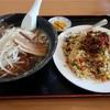 らーめん台湾炒飯セット、最強CPのお店  @小美玉  台湾料理 味家和