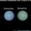 サブサーフェス シェーディングの実験
