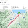 22km、途中までビルトアップ走