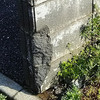 ブロック塀の破損補修美装