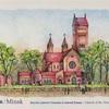 ベラルーシから届いたカードは温かみのある教会が描かれています