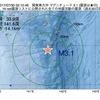2017年07月30日 02時10分 関東東方沖でM3.1の地震