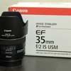 CANON 単焦点レンズ EF35mm F2 IS USM