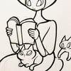 ペンと鉛筆とネコと空き箱ハウスとエナガ