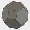 Fusion360で、半正多面体の切頂八面体をモデリングする。