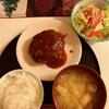 ハンバーグ&サラダ〜おうちランチ〜今日のわんこ
