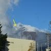 浅間山、初冠雪