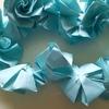 折り紙でバラの花を折る