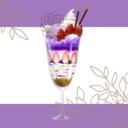 紫の夢と向日葵
