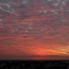 朝景色~その62①『深紅の焼け雲』