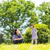 中原平和公園で親子二組の撮影