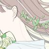 【フリーイラスト素材】グリーンブーケと女の子