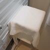 【バスチェア収納】その後。towerのマグネット風呂いすホルダーを使っています。音対策。